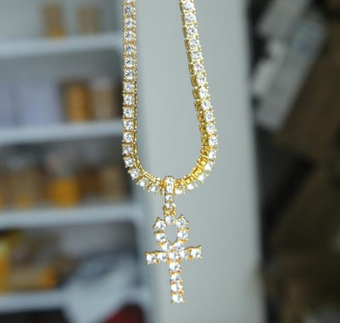 "24"" Gold Crystal Necklace"