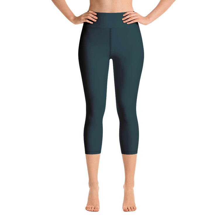 Deep Green Capri with waist band (New)