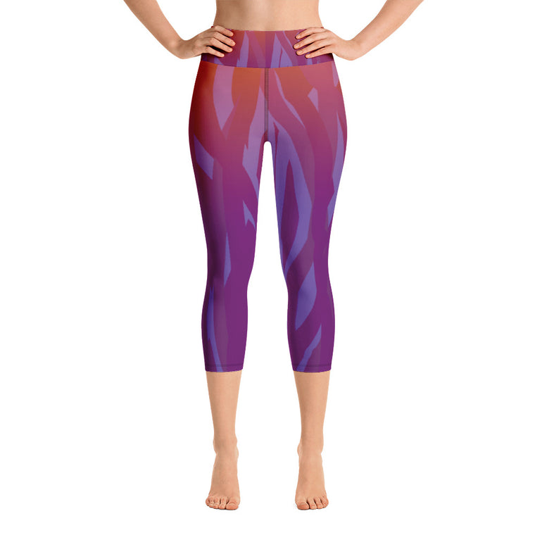Purple Fusion Capri with waistband