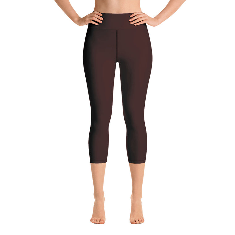 Maroon Capri with waist band