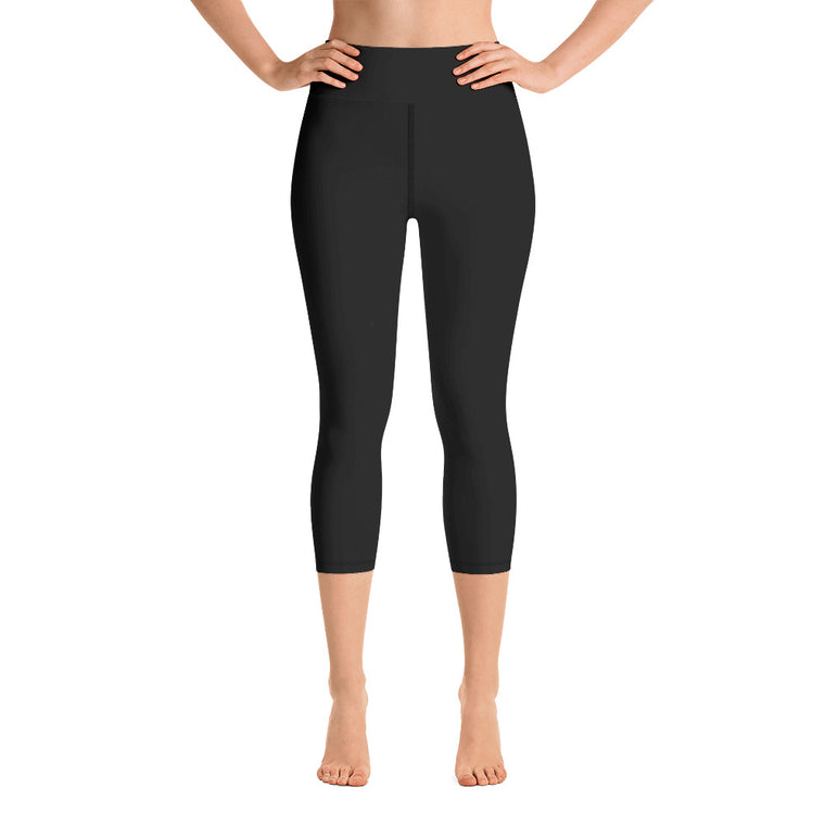 Black Capri with waist band (New)