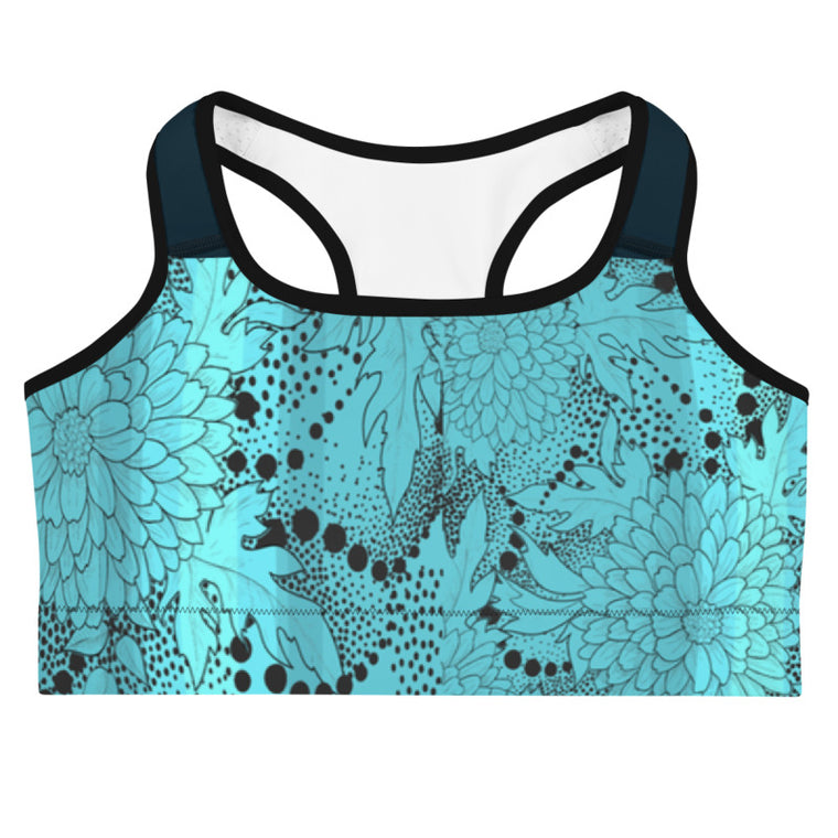 Ocean Floral Sports bra (New)