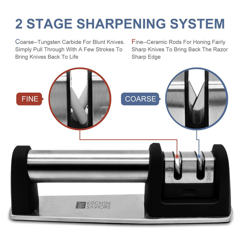 Kitchen Saviors Knife Sharpener Set