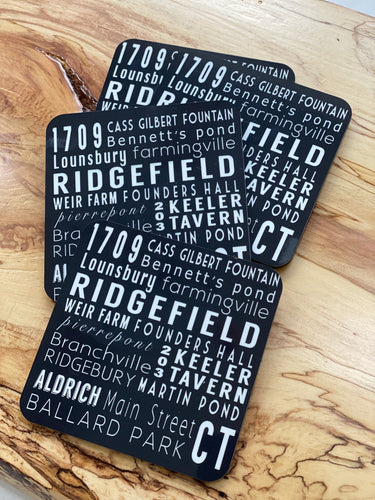 Ridgefield Subway Art Coaster Set