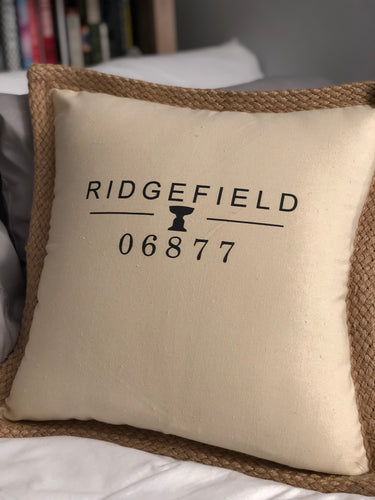 NEW COLOR!! Burlap Trimmed Pillow