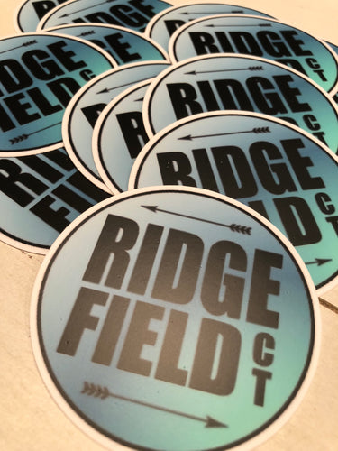 Ridgefield Typography Sticker