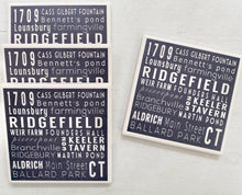 Ridgefield Ceramic Subway Art Coaster Set