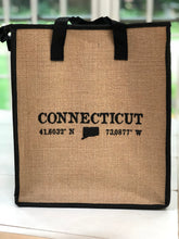 NEW!! Connecticut Insulated Jute Grocery Tote