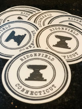 NEW!! Ridgefield Fountain Stamp Logo Sticker