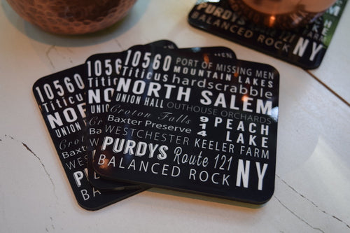 North Salem Subway Print Coaster Set