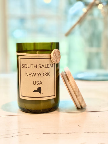 SOUTH SALEM Recycled Wine Bottle Soy Candle