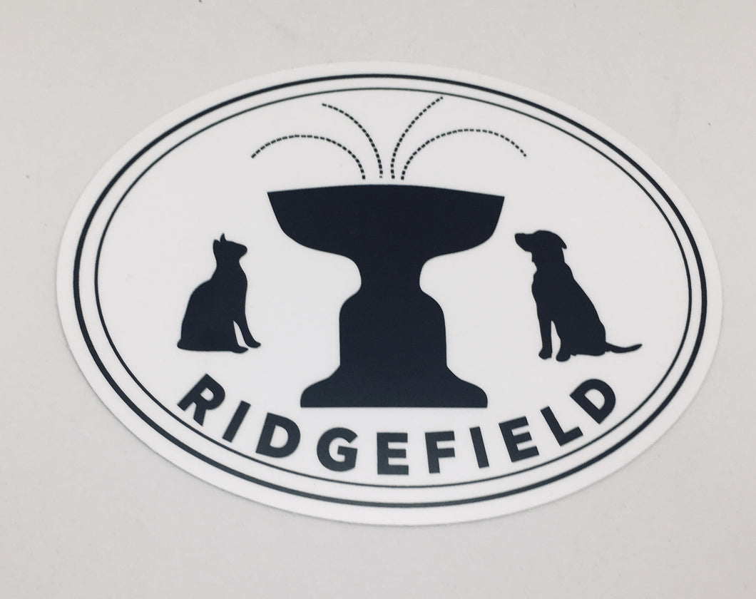 Paws of Ridgefield Oval Magnet