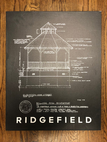 NEW COLOR!! Ballard Park Gazebo Blueprint Canvas