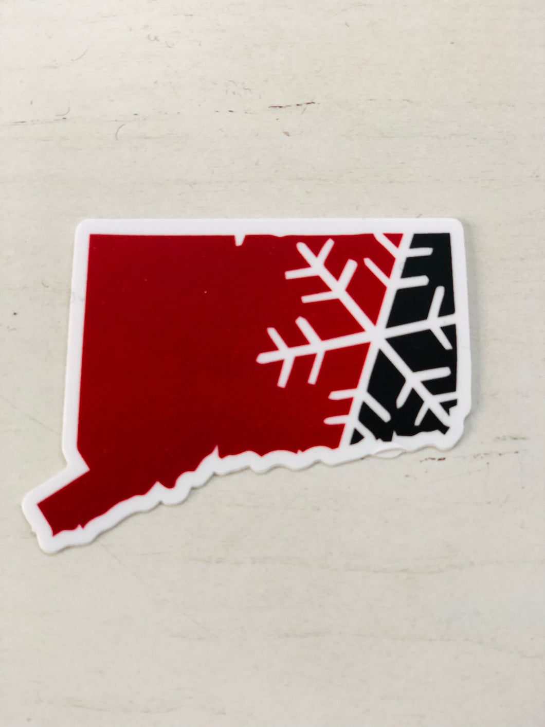 Connecticut Snowflake State Sticker