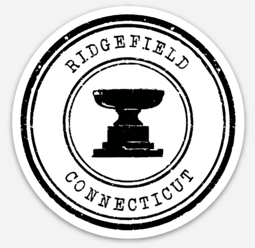 Ridgefield Fountain Stamp Logo Magnet