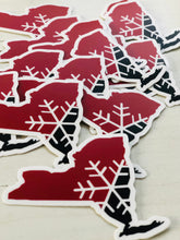 New York Snowflake State Sticker