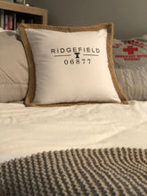 Burlap Trimmed Pillow