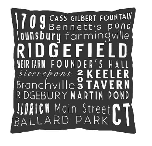 Ridgefield Subway Art Pillow