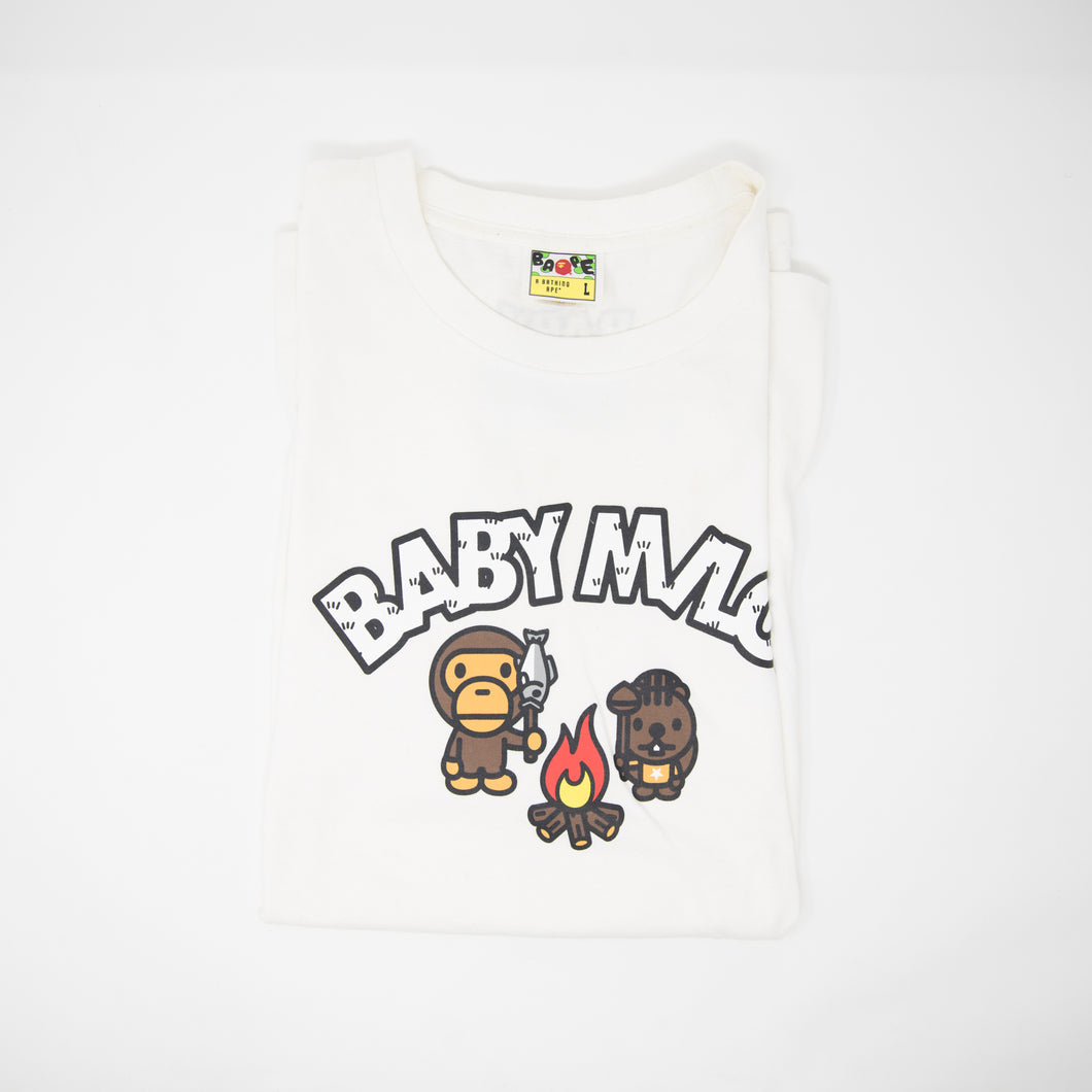 Bape Baby Milo Camp Fire Tee (Large / USED)