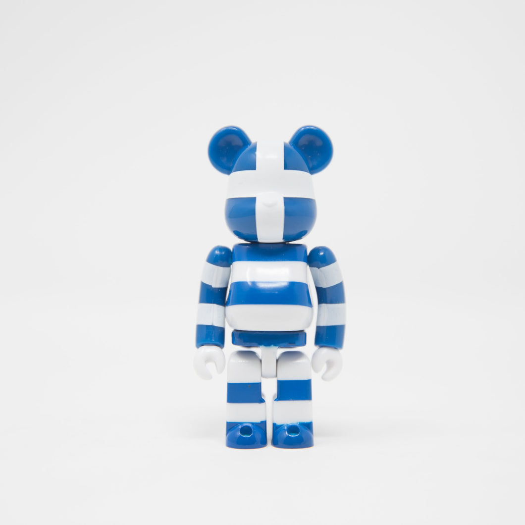 Medicom Toy BEARBRICK Greece - Flag Series 33 100% Figure (MINT)