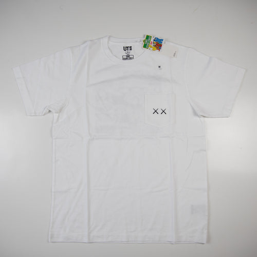Kaws x Sesame Street Uniqlo Pocket Tee White (Medium / NEW)