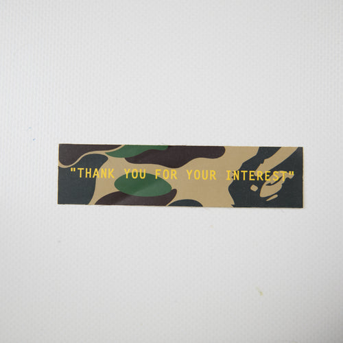 Bape Green Camo Sticker (MINT)
