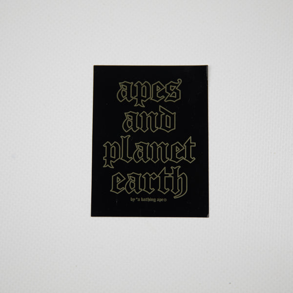 Aape By A Bathing Ape Planet Earth Sticker (MINT)