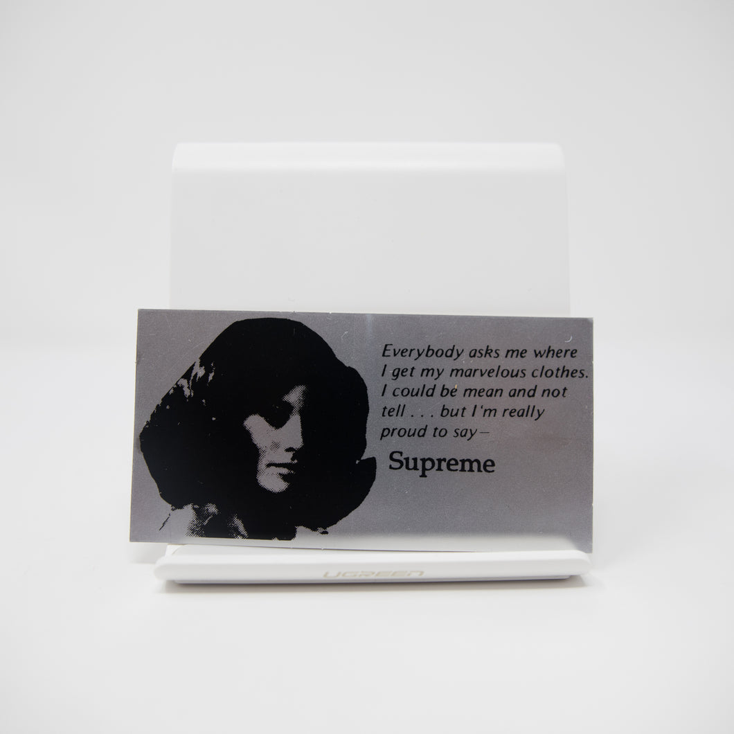 Supreme Mean Sticker (MINT)