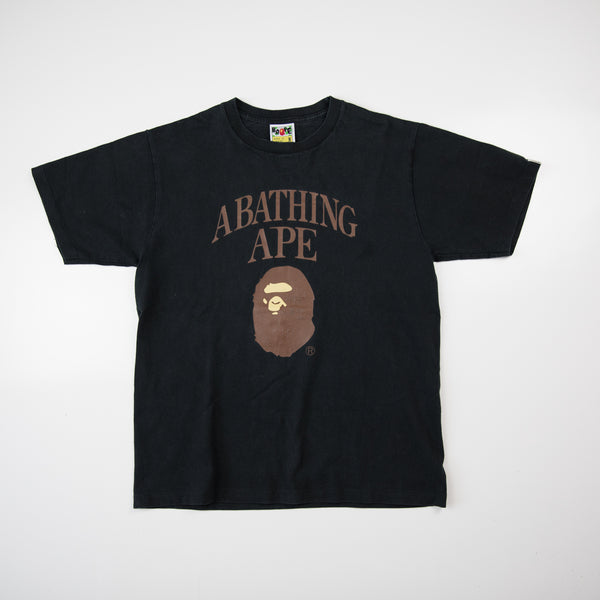 Bape Arch Logo & Ape Head Tee (Medium / USED)