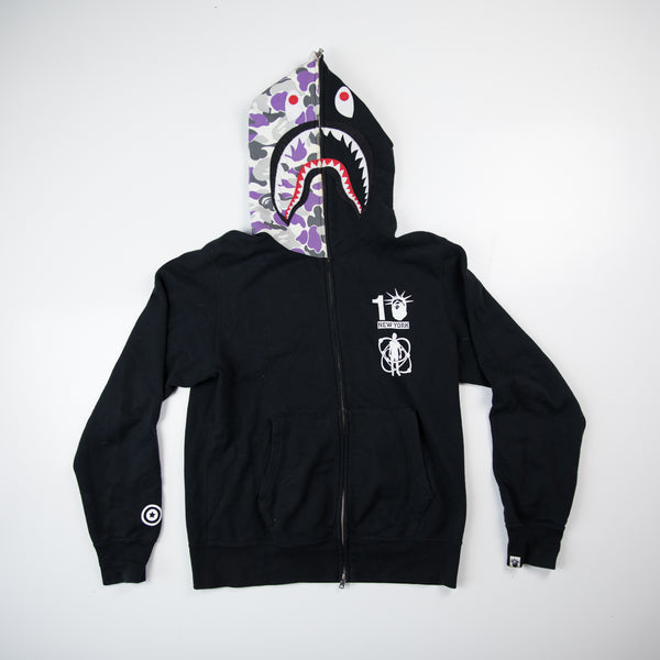 Bape NYC 10th Anniversary x Kid Cudi Shark Hoodie (Large / USED)