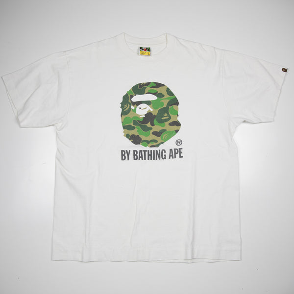 Bape Green Camo Ape Head Tee (Large / USED)
