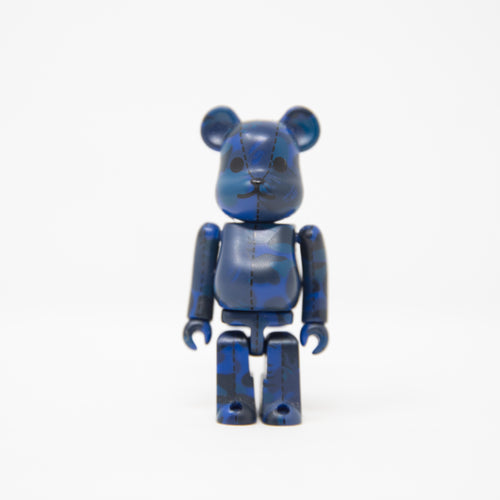 Medicom Toy BEARBRICK x Bape Blue Flame Camo 100% Figure (MINT)