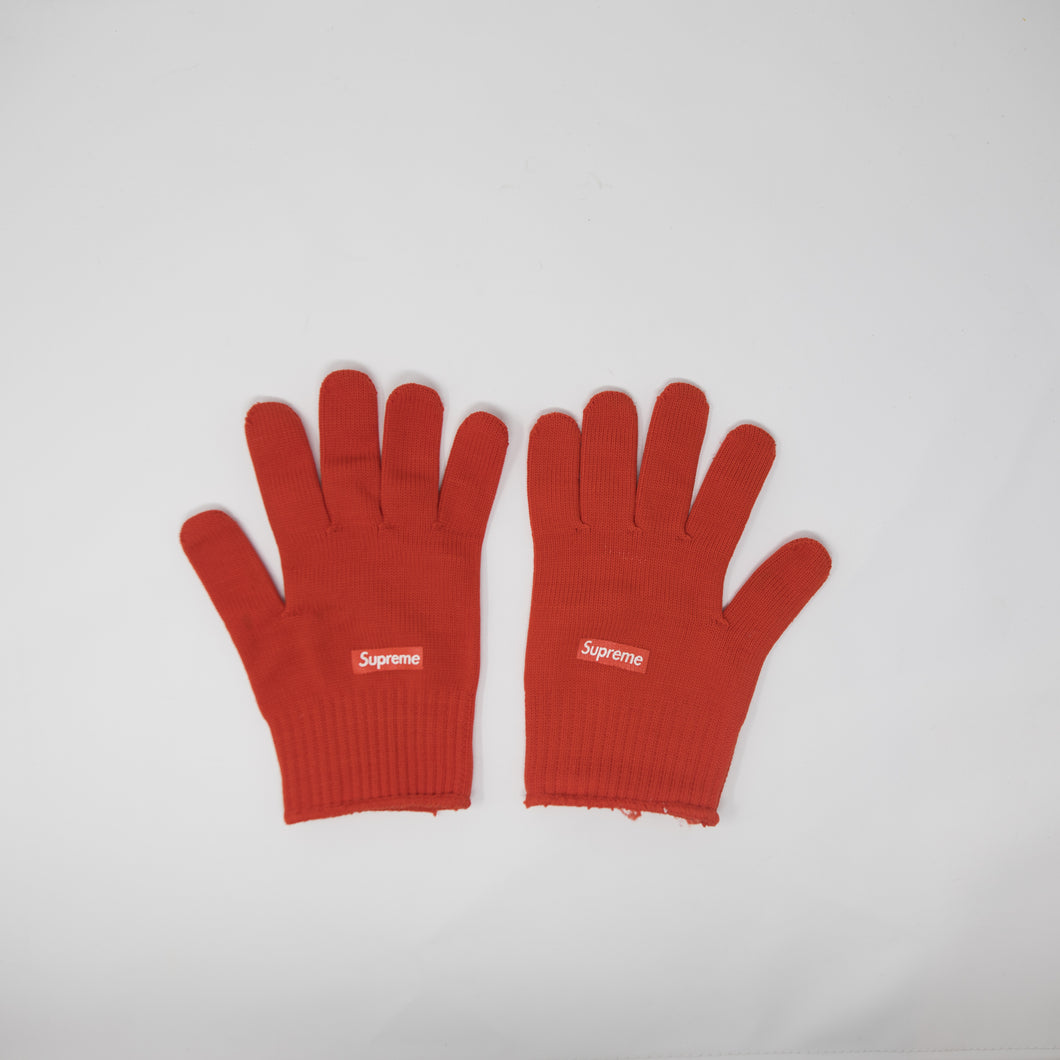 Supreme Knitted Gloves Red (USED)