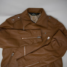 Bape Leather Biker Jacket Tan (Small / USED)