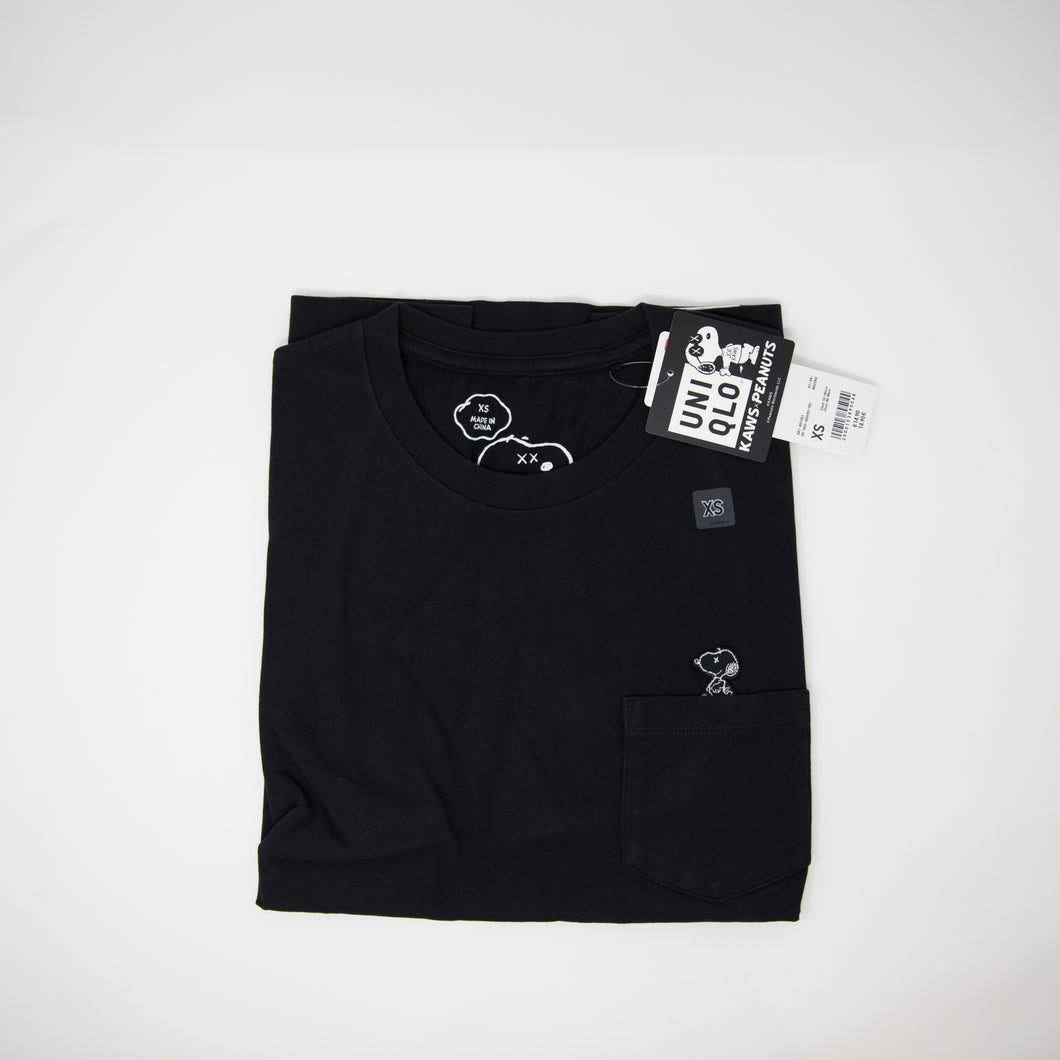 Kaws x Uniqlo Pocket Tee Black (XS / NEW)