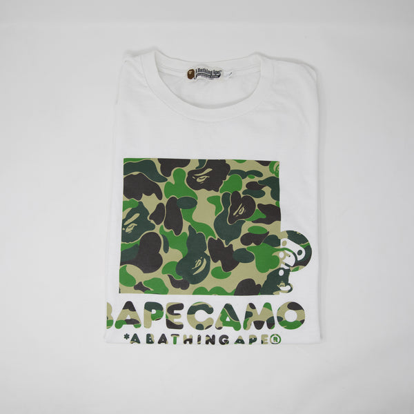 Bape Baby Milo Green Camo Tee (Large / USED)
