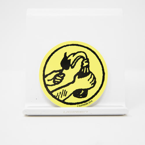 Supreme Molotov Sticker Yellow (MINT)