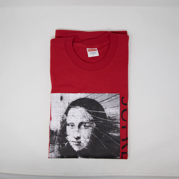 Supreme Mona Lisa Tee Red (Large / USED)