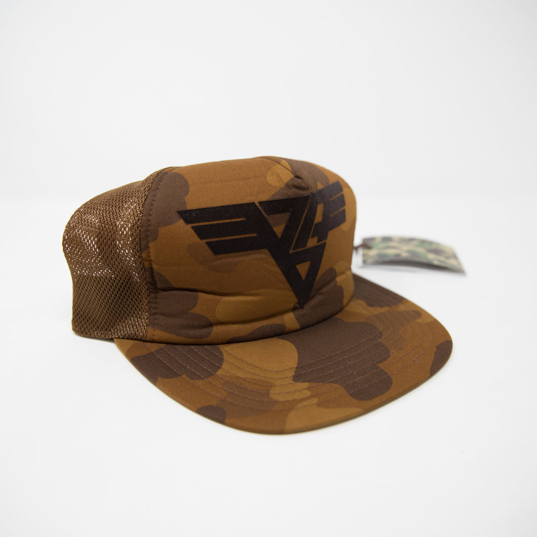 Bape Logo Brown Camo Cap (MINT)