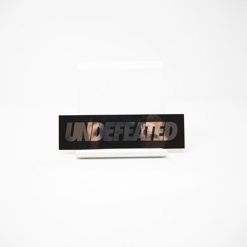 Undefeated Silver Text Sticker (MINT)