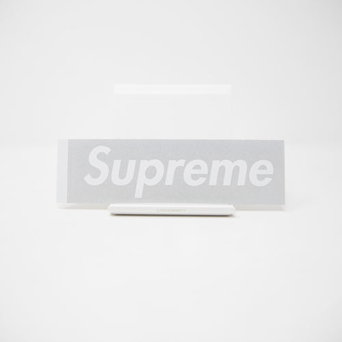Supreme Box Logo 3M Silver Sticker (MINT)