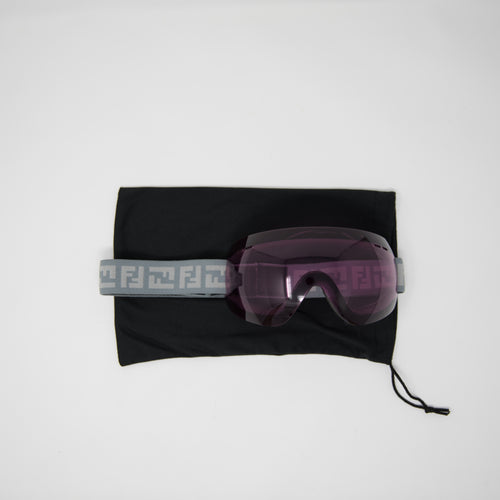 Fendi Monogram Ski Goggles Grey / Purple (MINT)