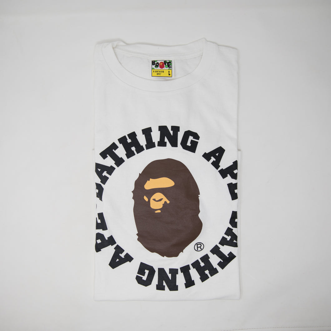 Bape Ape Head Round Text Tee (Large / USED)