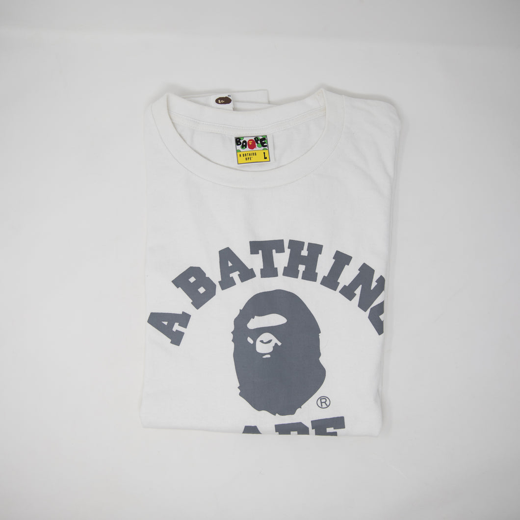 Bape Grey College Tee (Large / USED)