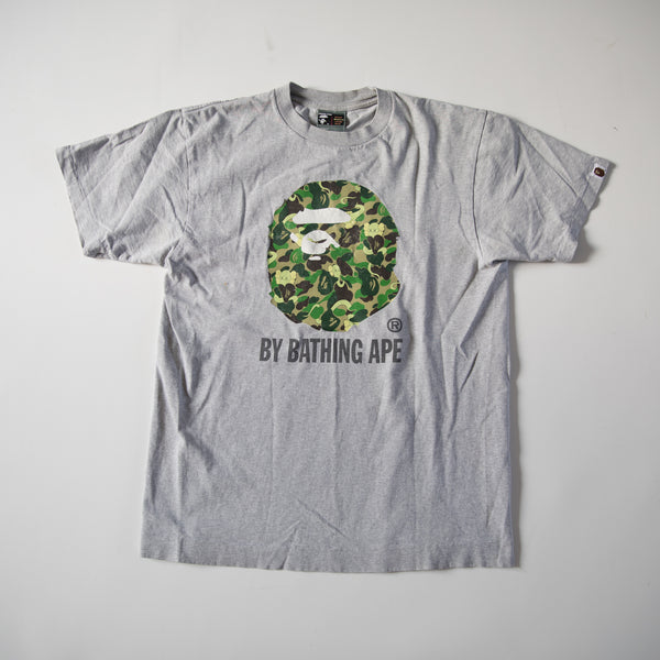 Bape x Kaws Green Camo Ape Head Tee (Medium / USED)
