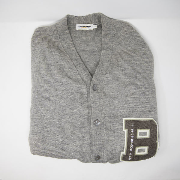 Bape College Cardigan Sweater (Large / USED)
