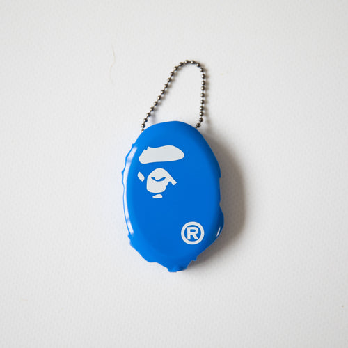 Bape Ape Head Coin Pouch Keychain Blue (MINT)