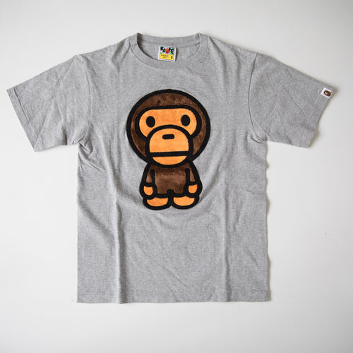 Bape Baby Milo Fur Tee Grey (Small / USED)