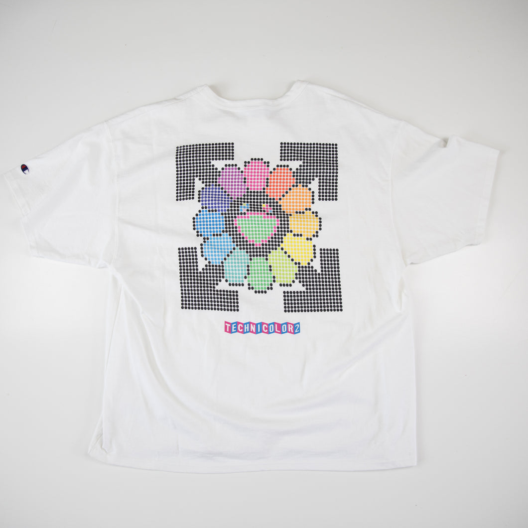 Off White x Takashi Murakami Technicolor 2 Tee Paris Gagosian Exhibition (XXL / USED)