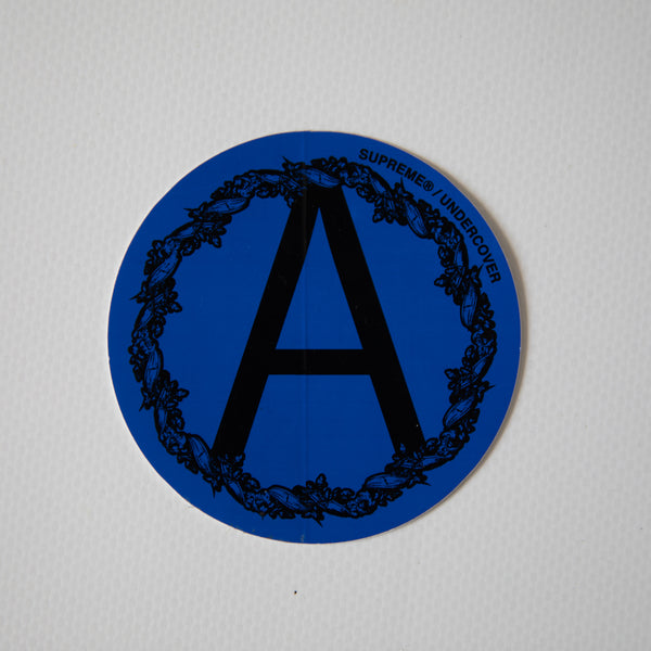 Supreme x Undercover Anarchy Blue Sticker (MINT)